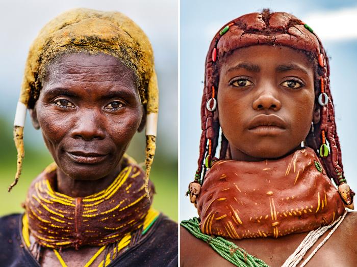 Женщина и девушка племени мвила. /Фото:Tariq Zaidi / ZUMA Press