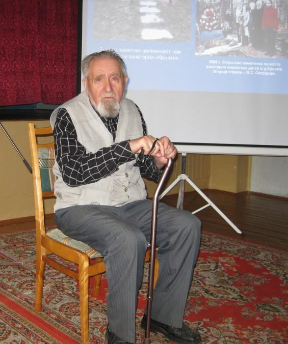 Владимир Свердлов единственный, кто остался в живых после еврейского концлагеря в Крынках. /Фото:mishpoha.org