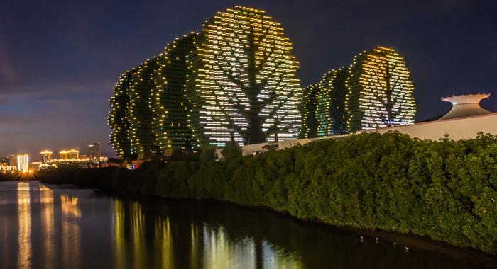 Дома-деревья в Китае привлекают туристов со всего мира. /Фото: М.Бугаев, aero.maxxus.ru