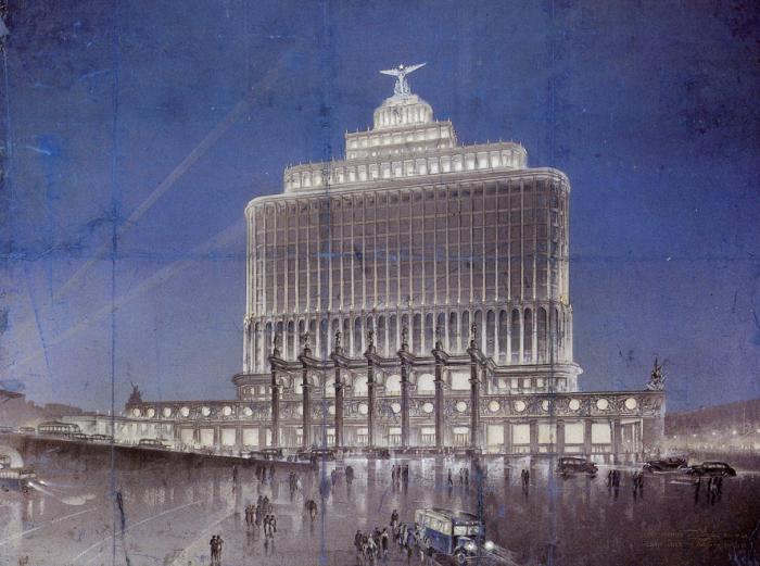 Это здание планировали разместить на площади Белорусского вокзала. /Фото: masterok.livejournal.com