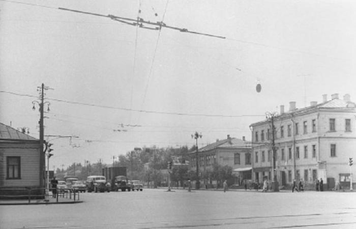 Начало Б.Тульской до постройки дома, 1960-е годы. /Фото:bestlj.ru