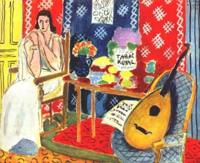 Рисовать музыкальные инструменты у Матисса получалось лучше, чем играть самому. /«Королевский табак», 1943