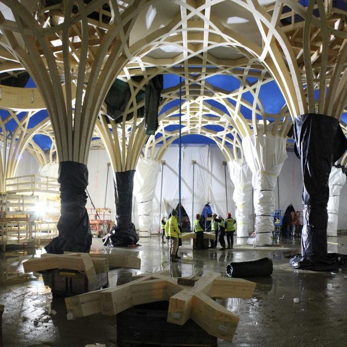 Внутренние помещения на этапе постройки. /Фото:ummet.kz