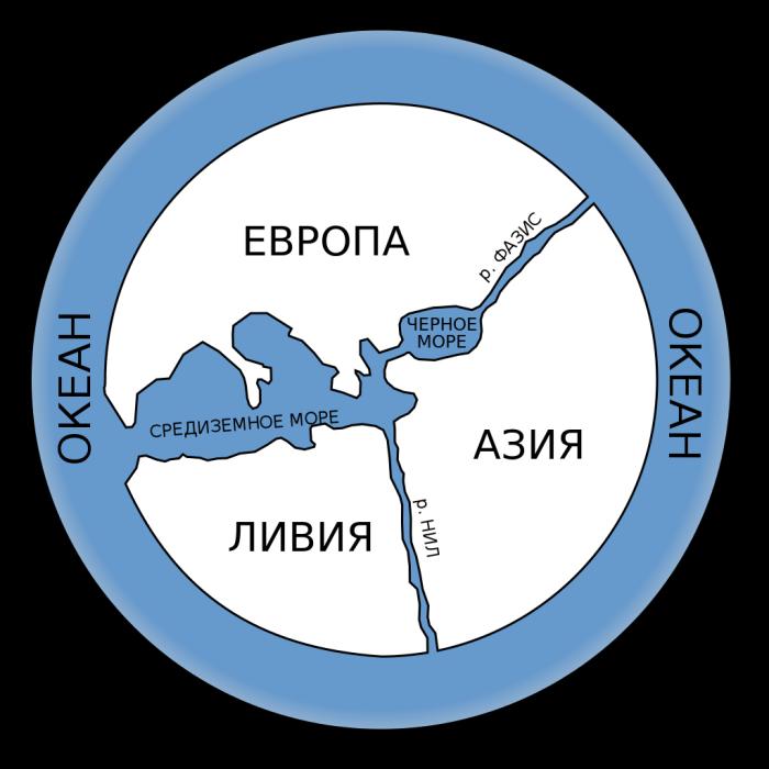 Ката Анаксимандра, воссозданная современными исследователями по письменным источникам древних ученых. /Фото:wikipedia.org