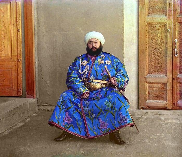 Эмир Сейид Алим-хан. Отреставрированное фото. 1911 г./Фото: С. Прокудин-Горский