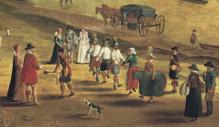 Танцоры морриса в Ричмонде, 1620 год.