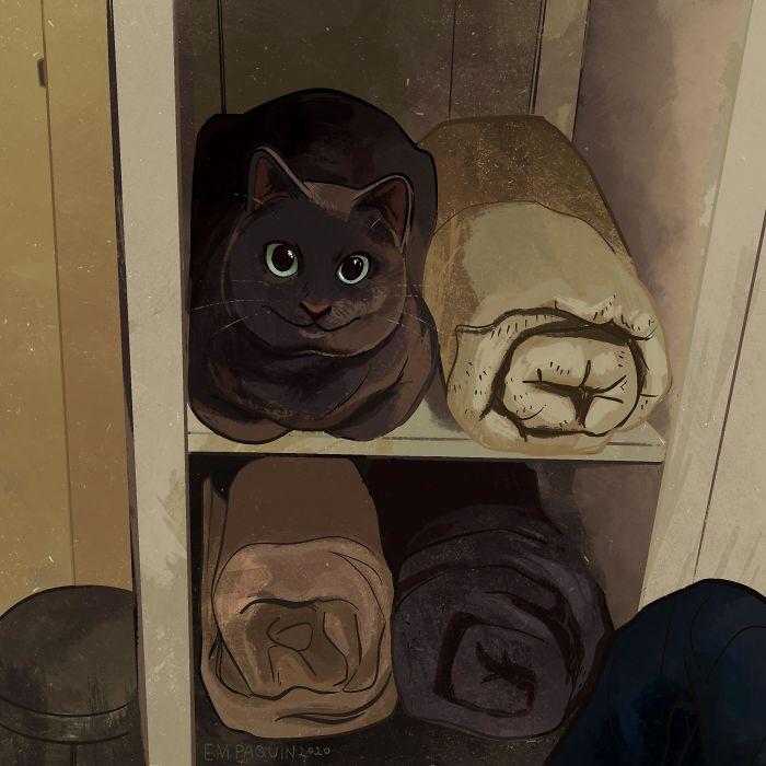 Ещё один забавный кот.