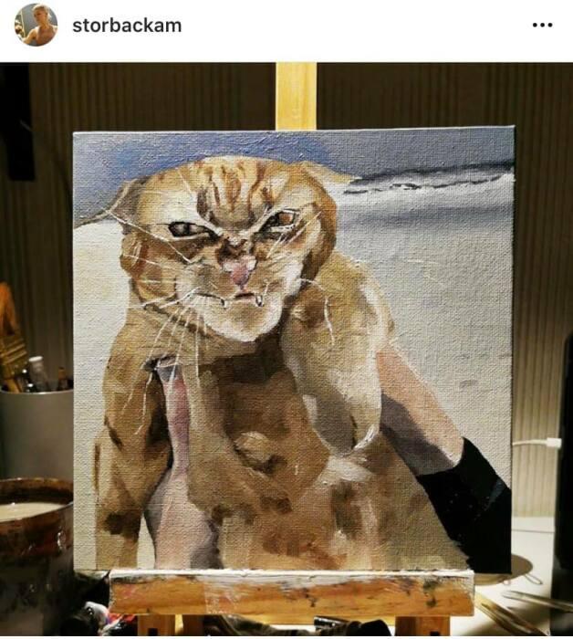 Один из пользователей Instagram даже нарисовал его портрет.