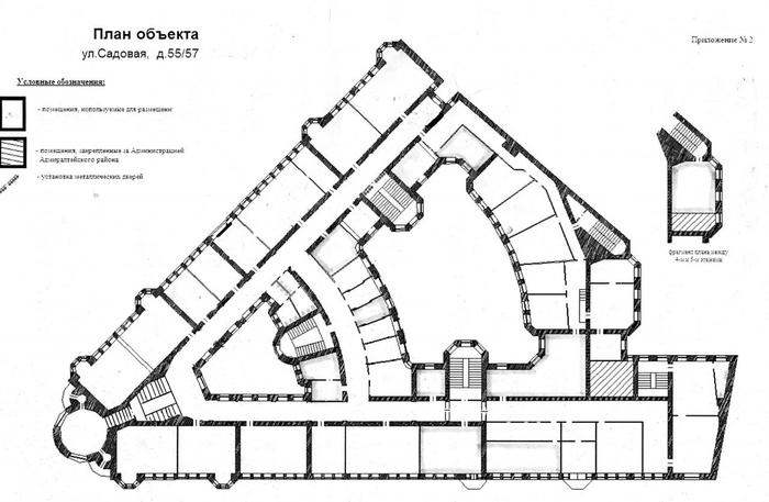 Проект будущего здания.