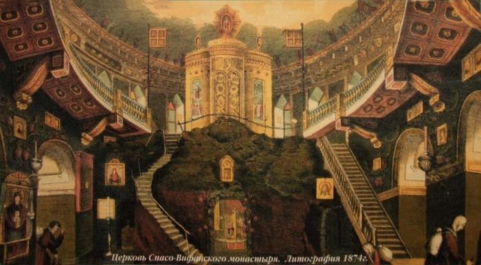 Так убранство собора выглядело до революции.