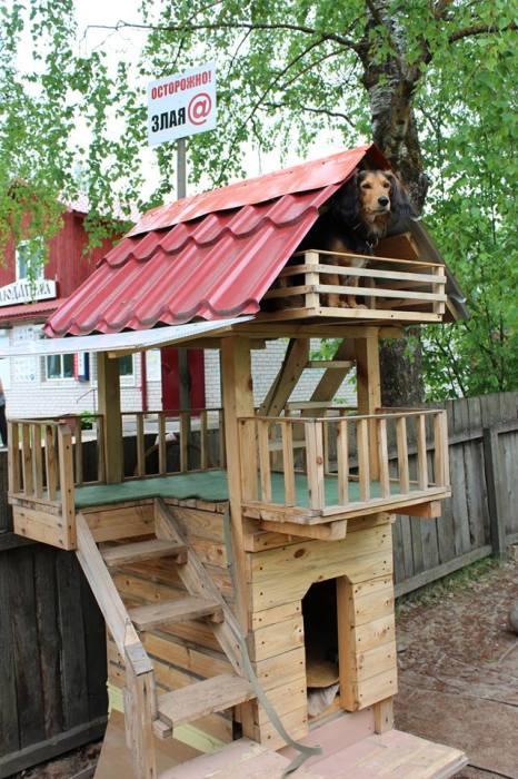 У собачки архитектора на участке есть своя резиденция - трехэтажный «особняк». /Фото: страница Л.Н. Рагутского в соцсети.