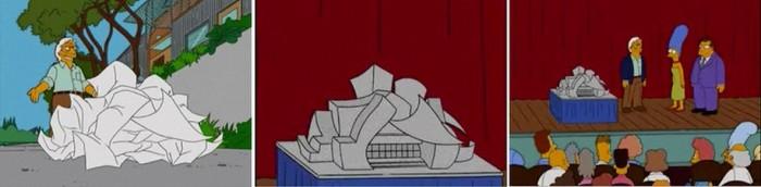 Он стал прототипом героя сериала про Симпсонов. Кадры из мультфильма.