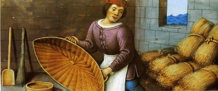 Женщина перехитрила вражеское войско с помощью двух буханок хлеба. 1510 г.Жан Бурдишон