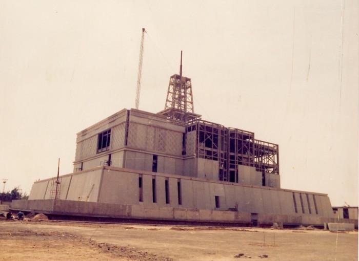 Строительство храма./ Foto: Sala de Prensa Mormona