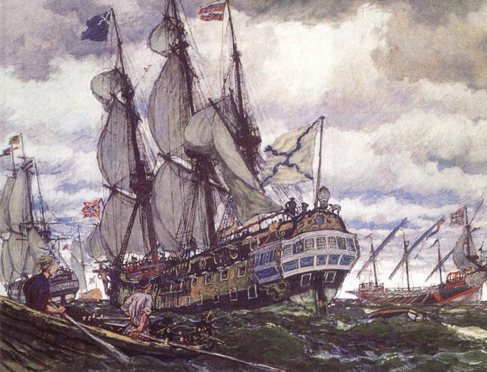 Без первых студентов, освоивших морское дело в Европейских учебных заведениях, не было бы русского флота.