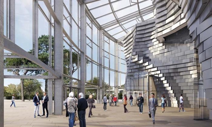 Вход в здание. /Фото:Gehry Partners