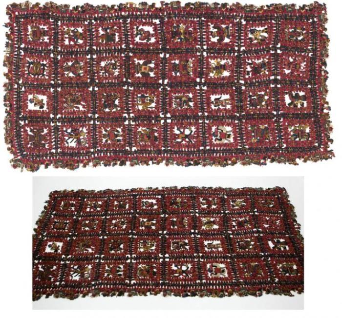Образец ткани, изготовленной инками. /Фото:livemaster.ru
