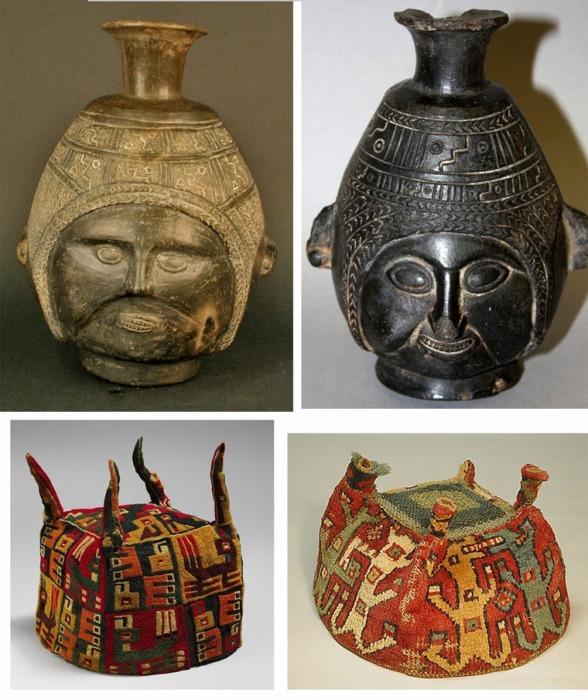 Археологические находки. Головные уборы напоминают современные вязаные шапки. /Фото:liveinternet.ru