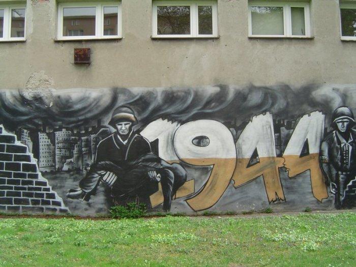 Граффити, посвященное Варшавскому восстанию 1944 года. /Фото:sppw1944.org