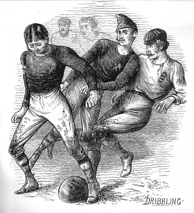 Футбол в Шотландии, 1872 год/ Фото:howlingpixel.com