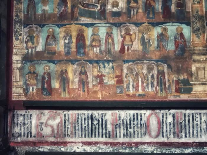 Внутренняя роспись стен.
