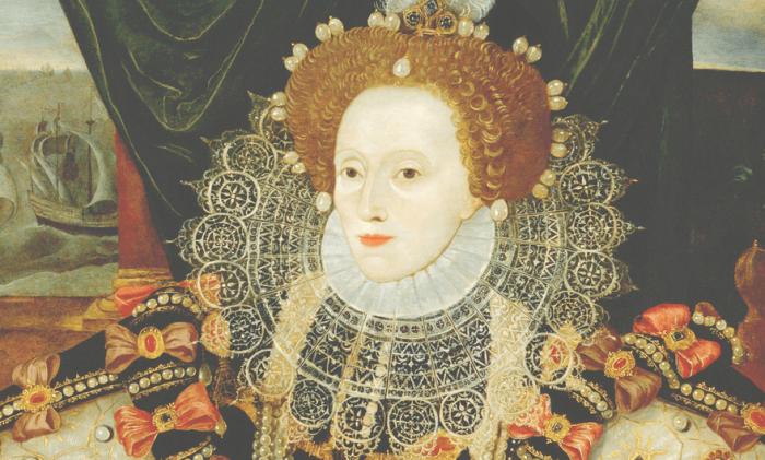 Даже королевские особы старались старались следовать моде. Губы делали узкими подкрашивали лишь чуть-чуть.