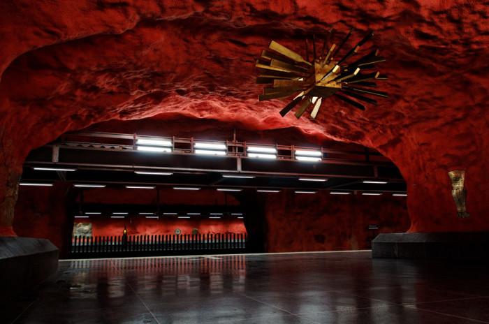 Станция метро в Швеции. /Фото:designerdreamhomes.ru
