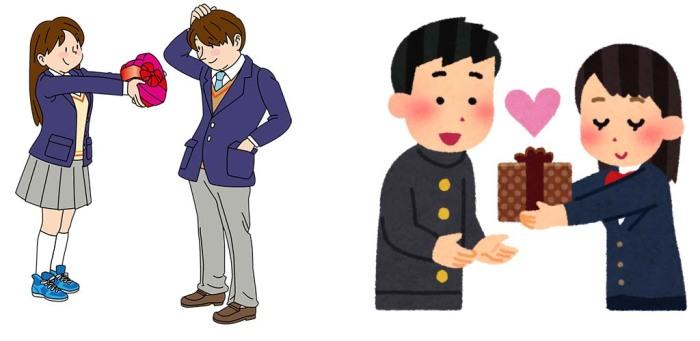 Японские агитационные картинки, призывающие заранее озаботиться подарком для мужчины.