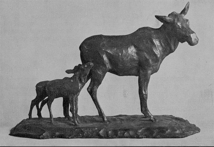 Скульптура Сергея Рябушинского «Лоси» (1909 г.). /Фото: ryabushinsky.ru