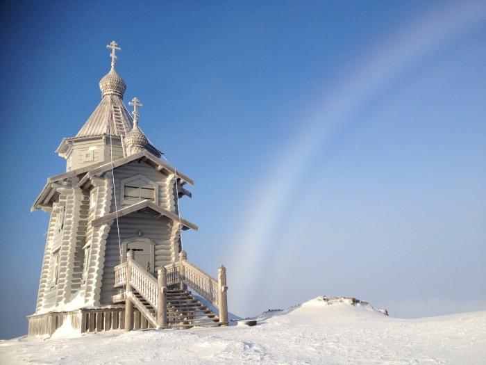 Храм в Антарктиде, самый южный на Земле./ Фото: Диакон Максим Герб