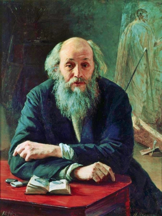 Занявшись сельским хозяйством, Ге стал чем-то похож на своего друга Льва Толстого. /Автор портрета - Николай Ярошенко