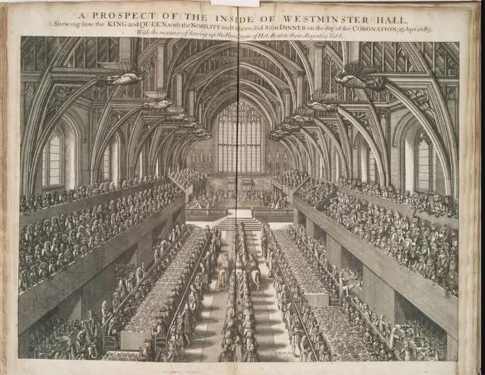 Британский парламент. /Рисунок 1685 года