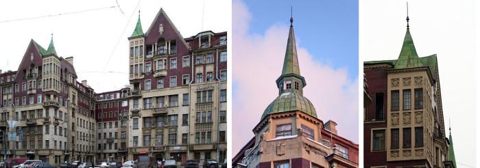 Здание в стиле модерн, которое в наше время назвали бы элитным. /Фото:citywalls.ru
