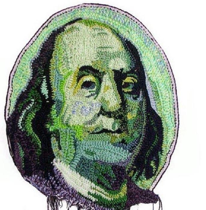 Американский президент с долларовой купюры.