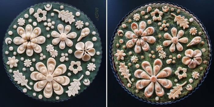 При приготовлении пирогов мастерица всегда использует только натуральные красители.