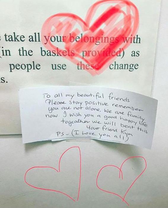 Это послание заставило онкобольную поверить в выздоровление. /Фото:Джессика Финн