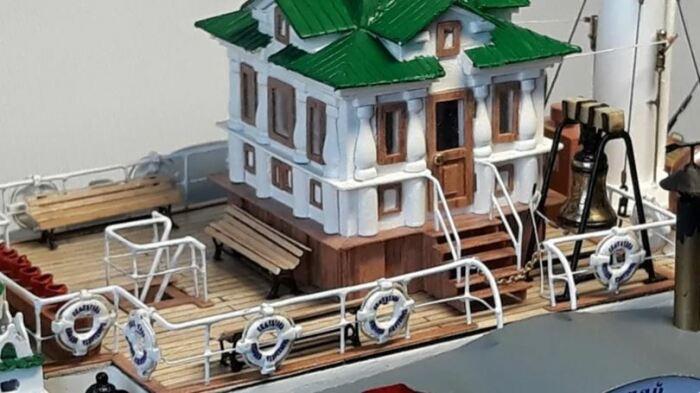 Фрагмент модели храма на воде. /Фото:dishmodels.ru, Вячеслав Василенко