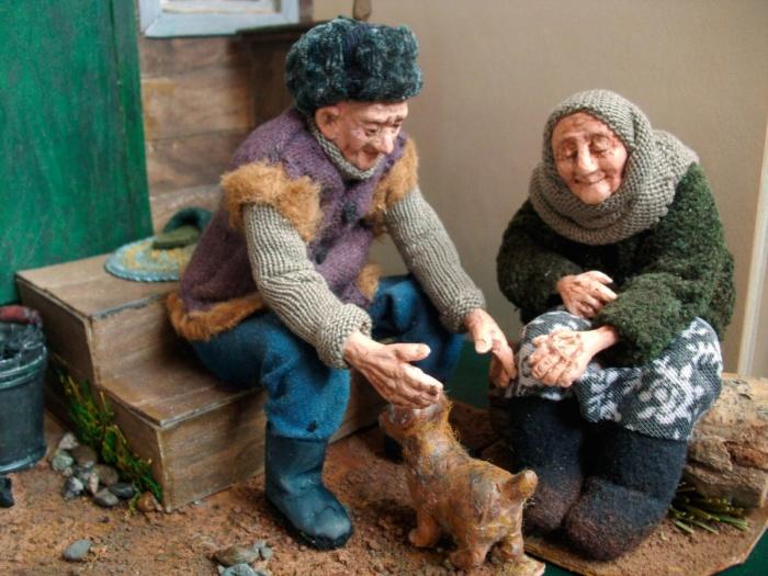 Трогательная пожилая пара. /Фото:livemaster.ru