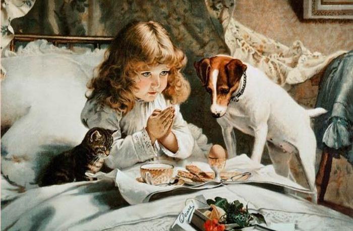 Он сумел передать все эмоции собак. /Charles Burton Barber
