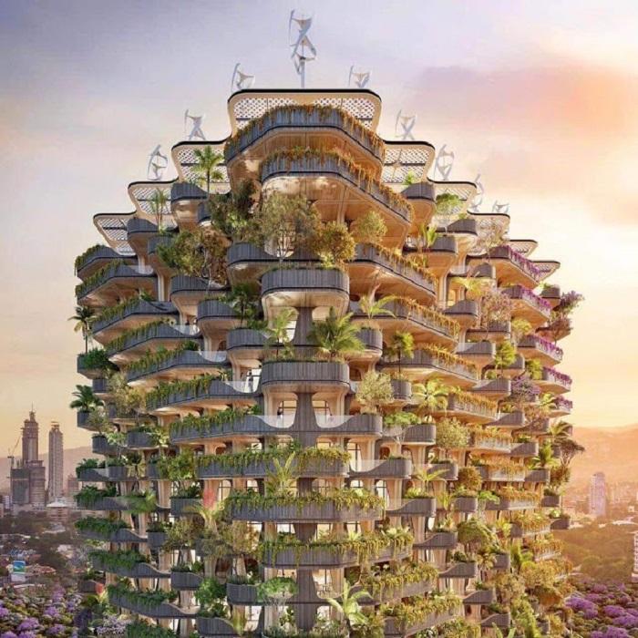 Необычный проект будет напоминать одновременно и лес, и радугу.