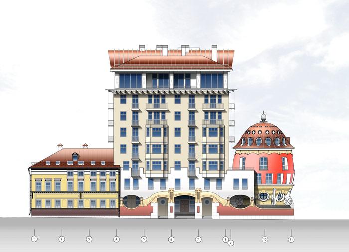 Дом примыкает к многоэтажному зданию. /Фото:stroi.mos.ru