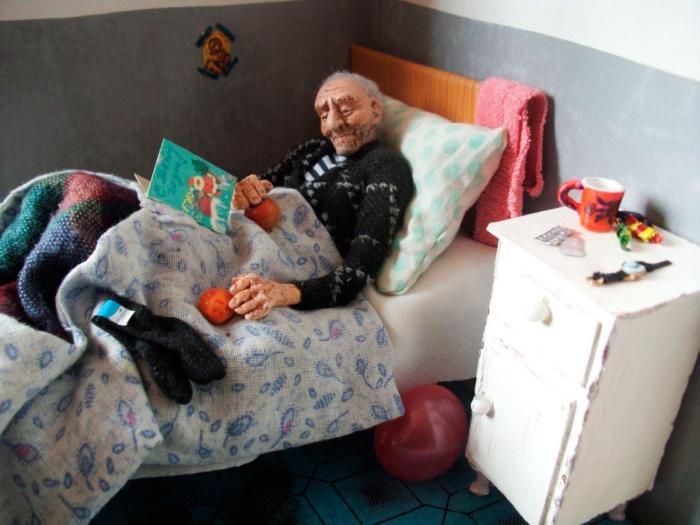 Одинокого старика поздравили с Новым годом. Сцена, при виде которой на глаза наворачиваются слезы. /Фото:livemaster.ru