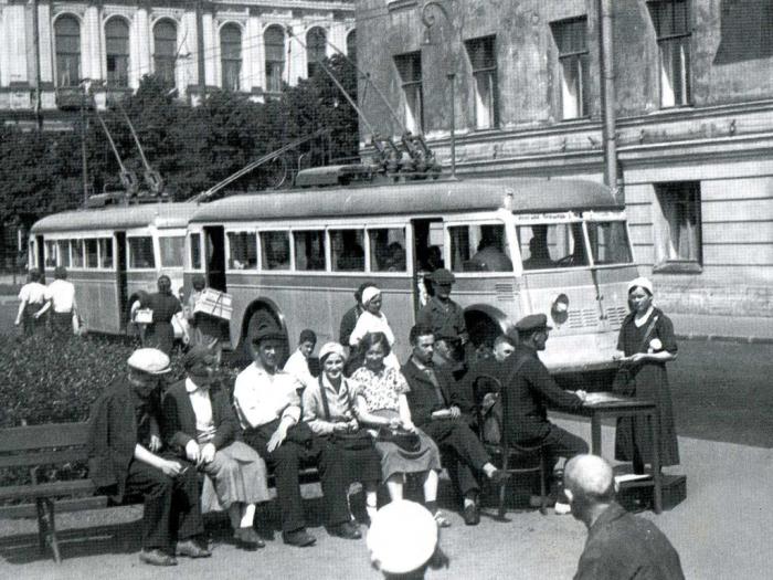 Запуск троллейбуса. /Фото:getmuseum.ru