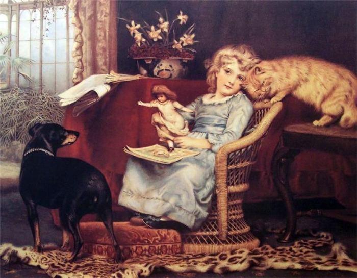 «Кошка и собака в картинках» /Charles Burton Barber