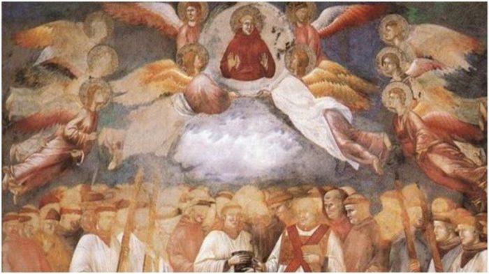 На обычной на первый взгляд, картине при очень внимательном рассмотрении можно разглядеть дьявольскую ухмылку. /Фото:thevintagenews.com