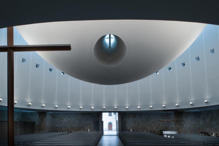 Необычный проект студии Греготти: религиозное здание./Фото: Марио Феррара