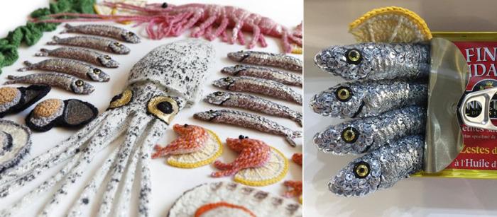 Морепродукты из шерсти. /Фото со странички Кейт в Instagram