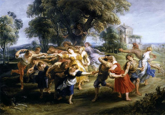 Рубенс. Танец итальянских крестьян