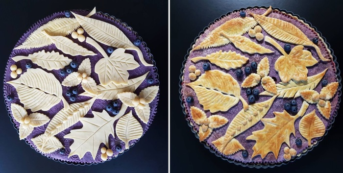 Пироги Карин до и после выпечки выглядят одинаково красиво.