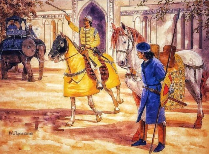 Примерно так выглядели воины армии Королевства Фатимидов. Рис. А. Лукинского